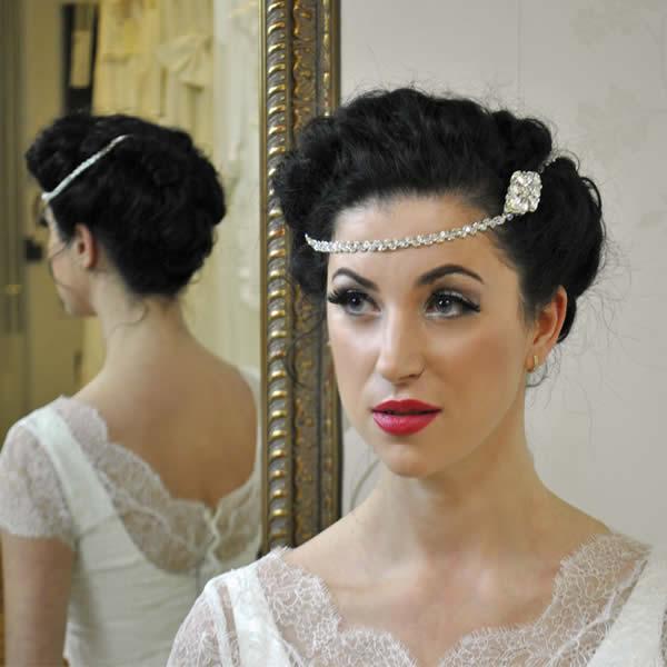159 00 wedding hair chain beyond time is a quirky wedding hair chain ...