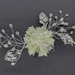 Golden Bloom - Bridal Comb