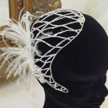 Jaunty Plume - Bridal Hair Band