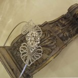 Hearts and Diamond - Bridal Hair Band