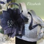 Elizabeth - fascinator - mother of the bride